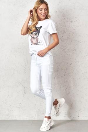 Spodnie jeansowe Basic białe