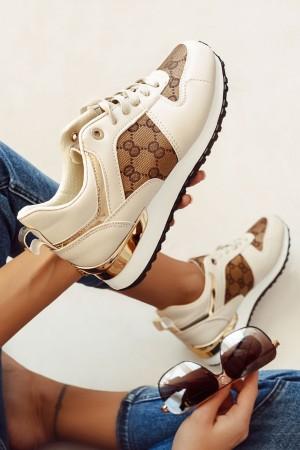 Buty sportowe adidasy Cleo beżowe