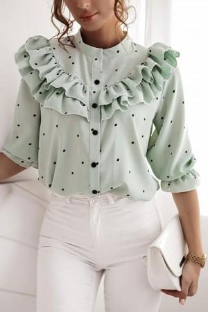 Koszula w kropki Stella miętowa