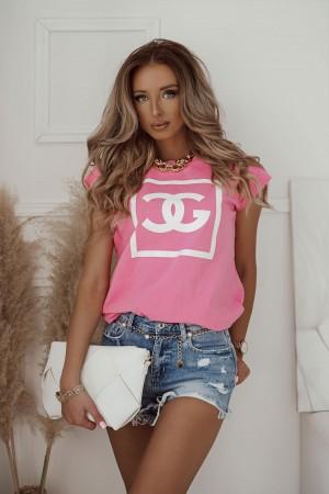 bluzka t-shirt Cool Girl różowy
