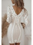 Sukienka Say Yes biała beżowa