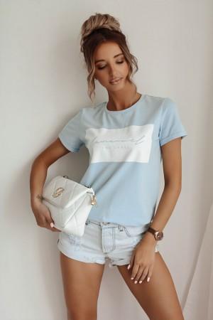 Bluzka t-shirt Story La Manuel błękit