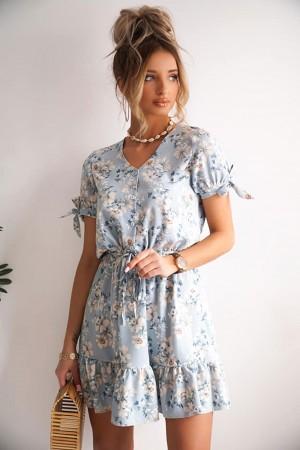 Sukienka Peony niebieska