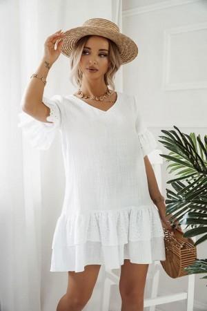 Sukienka muślinowa Isla biała