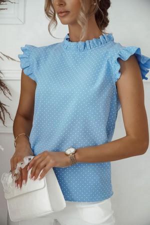 Bluzka w groszki niebieska Mia