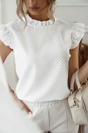 Bluzka w groszki biała Mia