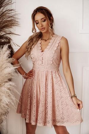 Sukienka koronkowa Wendy pudrowy róż