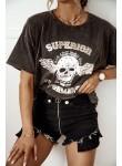 Szorty spodenki jeansowe Rocker czarne