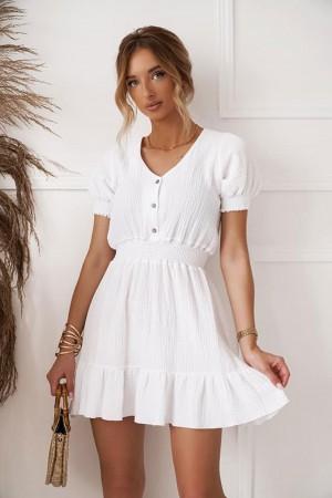 Sukienka muślinowa West biała