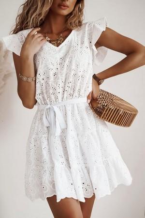 Sukienka ażurowa Zante biała