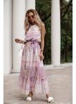 Sukienka maxi Madlen lila