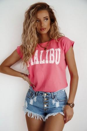 T-shirt Malibu malinowy