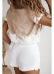 Bluzka t-shirt La Manuel Golden Hour beżowy