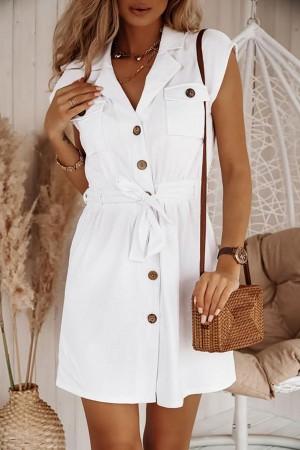 Sukienka szmizjerka Eley biała